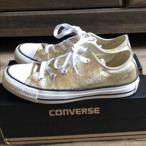 Converse light Gold/white/Black
